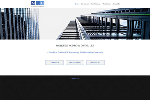 MKD Law Firm - Medical Malpractice Law Firm Website