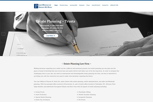 Peck Trust - Estate Planning Law Firm Website