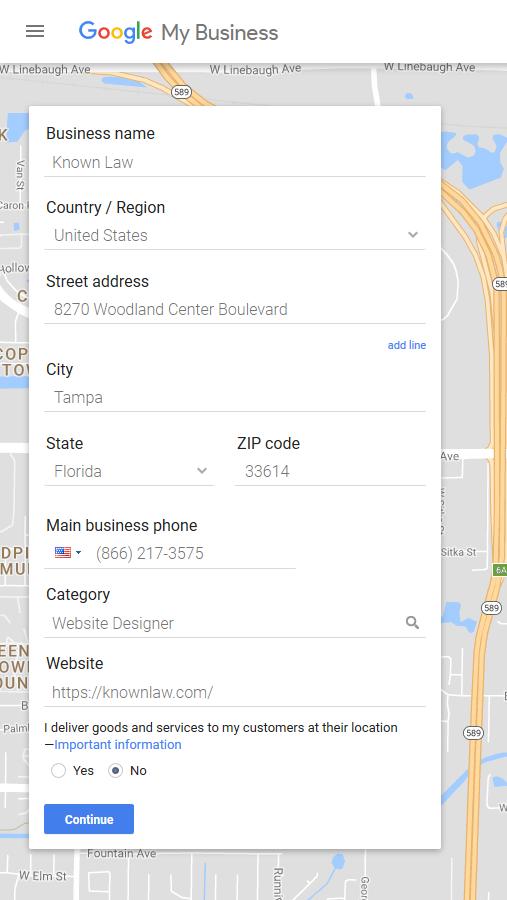 How to Setup your Google Listing